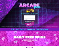 Arcade Spins Casino Screenshot