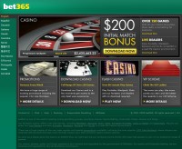 Screenshot del casinò Bet365