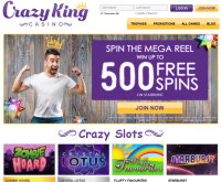 Crazy King Casino Screenshot