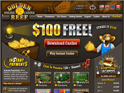 Captura de tela do Golden Reef Casino