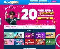 New Spins Casino Skärmdump