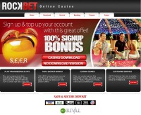 Rockbet Casino Screenshot
