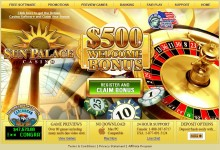 Screenshot del Sun Palace Casino